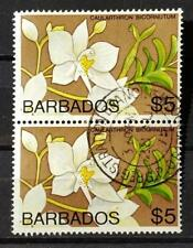 BARBADOS - 1974 - Orchids - Scott #410 - Lot of 2 used - 2 x 5$