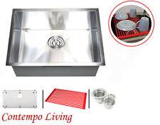 """26"""" Stainless Steel Zero Radius Undermount Kitchen Sink with Accessories"""