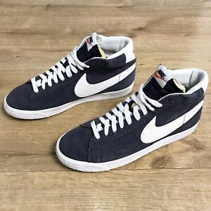 Nike Blazer Mid Premium Vintage Mens Blue Suede Trainers Size UK 9 EU 44