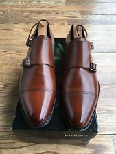 To Boot New York Double Monk strap Brown Burnish Men Shoes Size 9.5