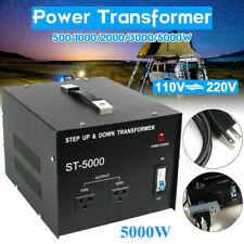 New listing Heavy Duty 5000W Voltage Converter Volt Transformer Step Up/Down 220V to 110V