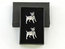 Jack Russell Terrier Dog Fine English Pewter Cufflinks Gift Mens Boxed