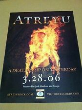 ATREYU 2006 Retail PROMO POSTER for Death grip on yesterday CD MINT USA 18 x 24