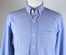 NEW J.Crew Slim L/S Button Down Vintage Oxford Shirt MENS MEDIUM Blue Cotton