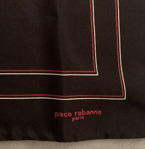 Paco Rabanne Vintage Silk Pocket Square Hankie NWOT