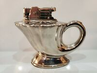 Vintage Working Presto Aladin Table Top Silver Tone Lighter