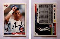 Luis Gonzalez Signed 1996 Score #146 Card Chicago Cubs Auto Autograph