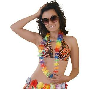 HAWAIIAN LEI MULTICOLOURED FLOWER GARLAND HULA GIRL - CHOOSE YOUR QTY / LOT
