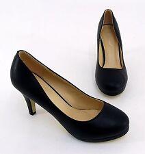 ESCARPINS BELLE WOMAN stiletto cuir synthétique noir taille 38
