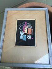 """Antique 1930 listed artist GEOFFREY ARCHBOLD Art Deco silkscreen """"Homs"""""""