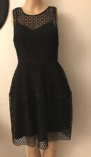 NWOT Club Monaco Black Laced Dress With Lining Sz 00 Fits US 4 S