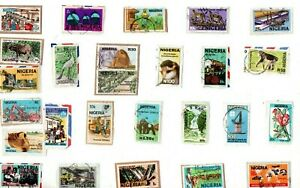 A LOVELY MIX OF DIFFERENT KILOWARE STAMPS FROM NIGERIA