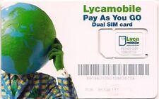 Lyca Mobile 2-in-1 Dual Sim Card New