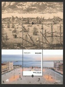 PORTUGAL 2018 TAGUS RIVER (BOATS) SOUVENIR SHEET OF 1 STAMP IN MINT MNH UNUSED