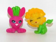 Polly Pocket Lot of 2 Fuzzy Flocked Cutants Pets Dandelion & Bunnyroot Rabbit