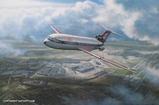 BEA BRITISH AIRWAYS TRIDENT  AVIATION  ART  RONALD WONG