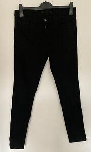 J Brand Jett Black Pencil Skinny Leg Jeans Size 29 Size 10-12