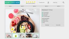 Szablon HTML Responsywny Bez aktywnej zawartości ebay oferta opis interaktywny