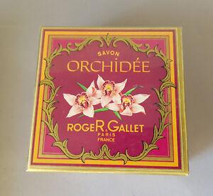 vintage Savon ORCHIDÉE Bade SEIFE Roger Gallet 180gr UNGEÖFFNET