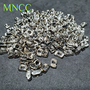 M5 Nickel Plated Carbon Steel Hammer Head T Nut Fastener Sliding Nut For 2020