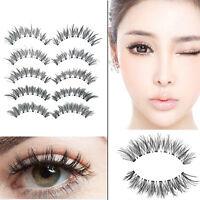 5 Pairs False Eyelashes Long Thick Natural Fake Eye Lashes Set Mink Makeup Uwwj