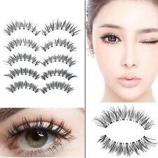 5 paires faux cils épais long naturel maquillage volumineux Beauté Felmme