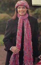 FG2 - Knitting Pattern - Lady's Cosy Soft, Hat & Scarf - Women's