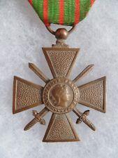 MEDAILLE CROIX DE GUERRE 1918 Etoile Citation Guerre 1914-1918 WAR CROSS WWI
