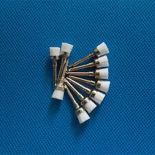 100pcs White Nylon Dental Latch Bowl Flat Polishing Polisher Prophy Brushes Sale