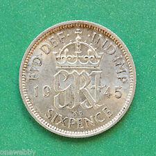 1945 George VI Silver Sixpence SNo40088