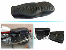 Royal Enfield Interceptor & GT 650 Leather Comfortable Dual Seat & Pannier Bag