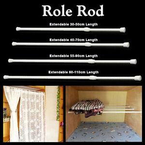 Extendable Telescopic Shower Net Voile Rod Curtain Rail Pole Net Rod Adjustable