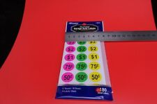 *2 SETs OF 180 PRICE STICKERS 360 dots GARAGE SALES - RETAIL SHOPS free post
