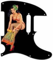 Telecaster Pickguard Custom Fender Tele 8 Hole Guitar Pick Guard Pin Up Tikki BK