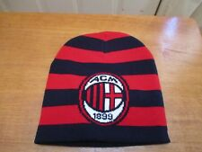 BRAND NEW A.C. MILAN RED AND BLACKS FOOTBALL SOCCER CLUB KNIT BEANIE HAT