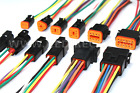 Black Assembled  Deutsch 2,3,4,6,8,12 Pin,12, 14 and 16 AWG connector