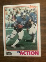 1982  Topps  #350  Billy Sims  Detroit Lions In Action NrMT