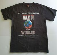 WAR OF THE WORLDS God t-shirt Jesus Tee Size M 2012 men's Vintage t-shirt