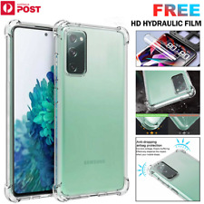 For Samsung S20 FE Note20 Ultra Clear Case Crystal Shockproof Flexible TPU Cover