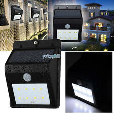 8 LED Solar Powered PIR Outside Wireless Motion Sensor Security Flood Wall Light