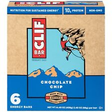 NEW SEALED CLIF ENERGY BAR CHOCOLATE CHIP 14.40 OZ 9G PROTEIN NON-GMO