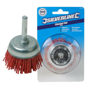 """75mm Rotary Nylon Filament Wire Cup Brush Rust Remover Tool Non Sparking 3"""" New"""