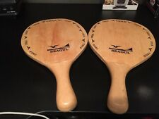 2 VINTAGE RARE SEAGUL PADDLES Chile Racquet Ball Table Tennis