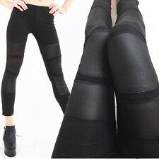 Low Waist Leggings Spezial Design Seidenmatte schwarze dünne Reithose