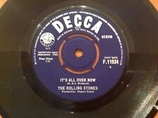 THE ROLLING STONES - 1964 Vinyl 45rpm 7-Single - IT'S ALL OVER NOW