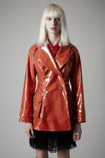 Meadham Kirchhoff x Topshop Red Glitter Mac Raincoat Jacket Pentagram 12 8 RARE
