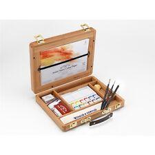 Winsor & Newton Artists Professional Water Colour Bamboo Wood Box - Half Pan
