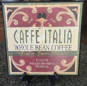CAFFE' ITALIA ITALIAN COFFEE WALL HOME DECOR