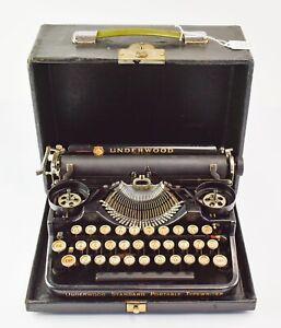 1925 Antique Underwood Standard Portable Manual Typewriter - NO RESERVE KL16