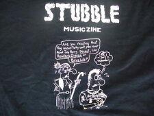 Stubble Musiczine Magazine Punk Rock Music Zine RARE non tour T shirt 2XL